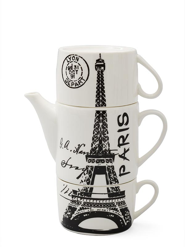 Eiffel Teapot and Mug's Set