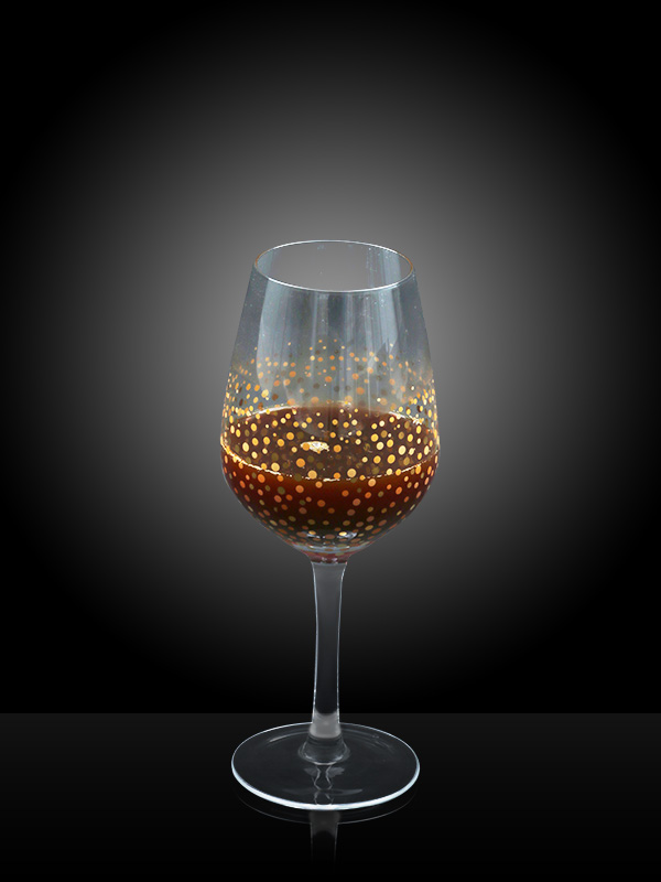 Golden Confetti Wine Glass (Set of 2)