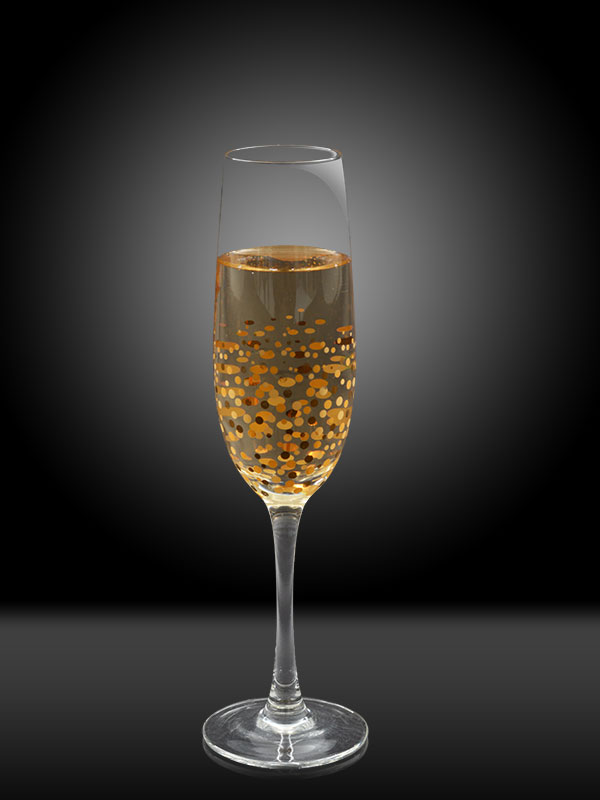 Golden Confetti Champagne Glass (Set of 2)