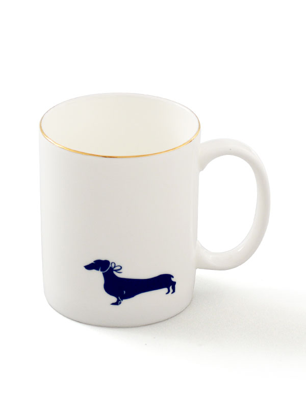 Solitary Dachshund Coffee Mug (Set of 2)
