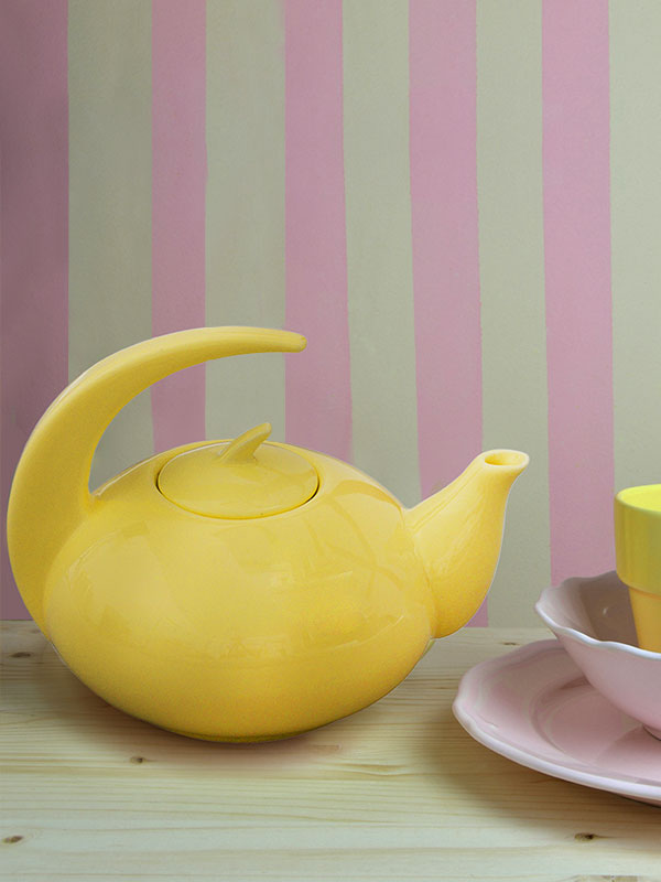 Yellow Moon Handle Teapot