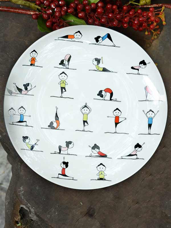Yoga Plate & Funky Plates: Unique Serving Plates Online at Best Prices in India