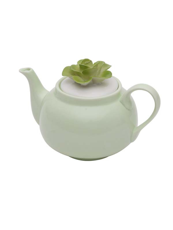 BLOSSOM GREEN TEAPOT AND CUP SET