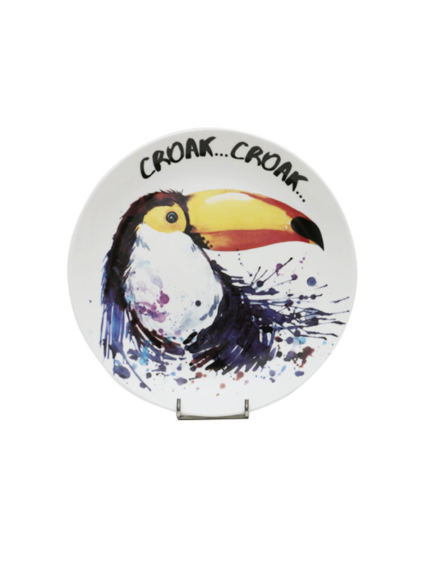 Feathered Friends Wall Plate (Set of 4)
