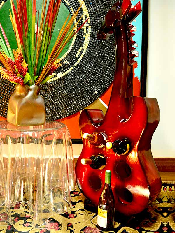 Guitar Wine Holder