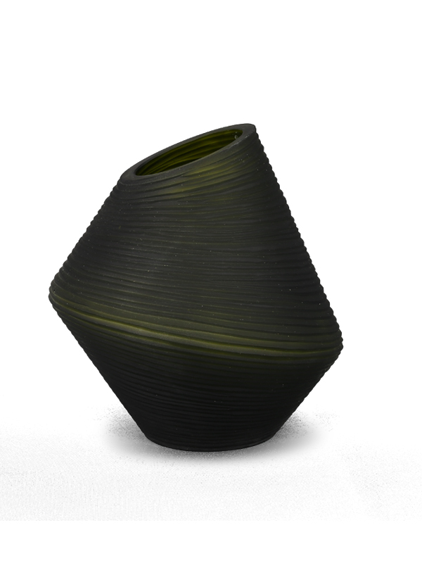 Green Spinning Top Vase