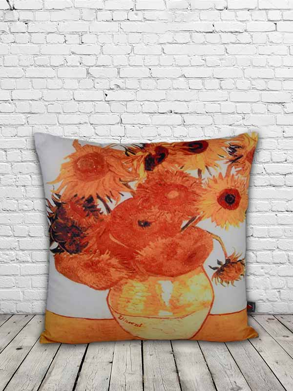Sunflowers by Van Gogh Cushion (Set of 2)