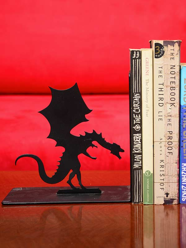 Man and Dragon bookends