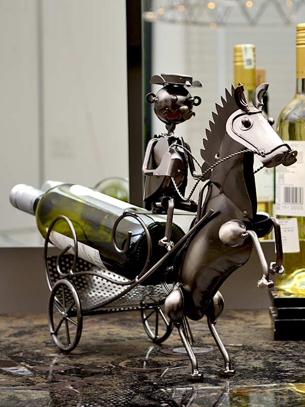 Horse Carriage Wine Holder