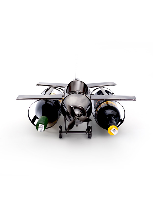 Metallic Plane Wine Holder