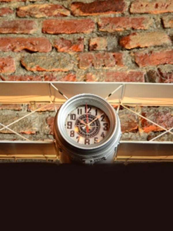 Wright Plane Clock (White)