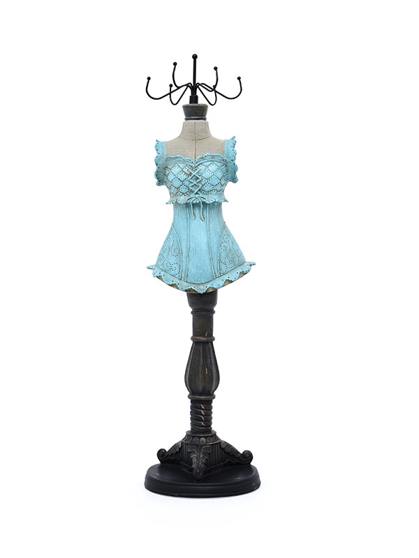 Alexis Mannequin Jewellery Hanger (Light Blue, Big)