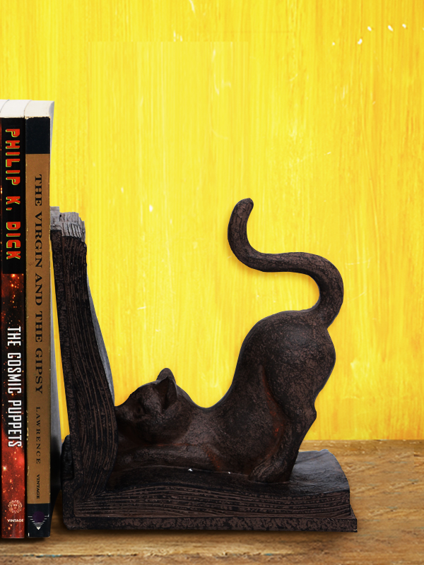 Wild Cat Bookend Pair