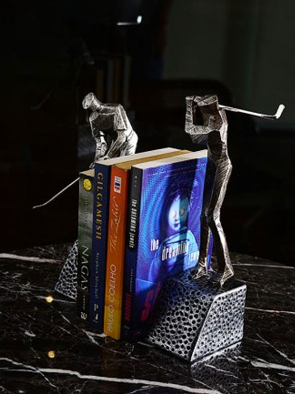 Golfer Pair Bookends