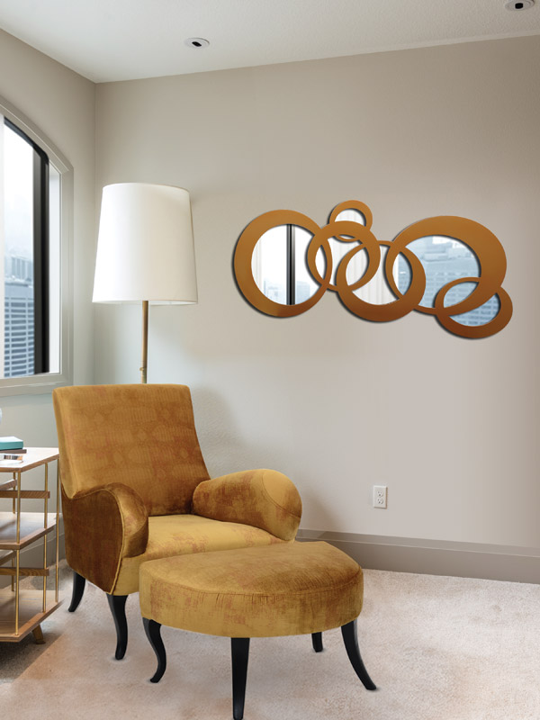 Concentric Hoops Mirror