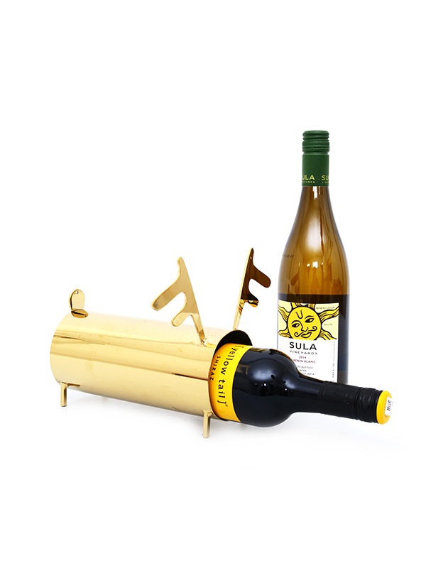 Golden Deer Frame Wine Holder
