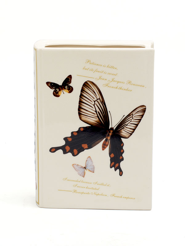 Butterfly Book Cover Vase