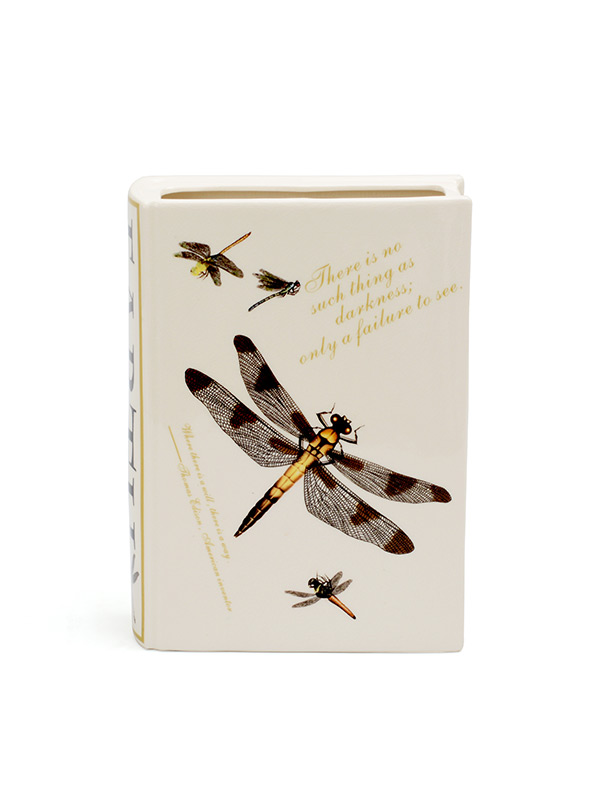 Dragonfly Book Cover Vase