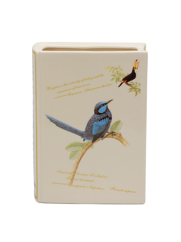 Bird Book Cover Vase