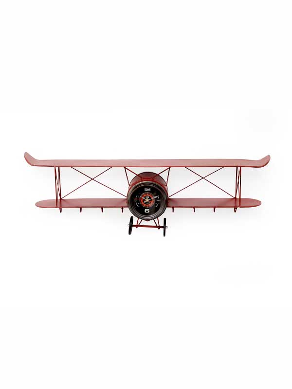 Wright Plane Clock (Red)