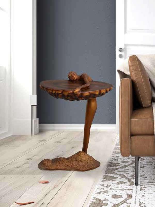 Man Holding Cloud End Table