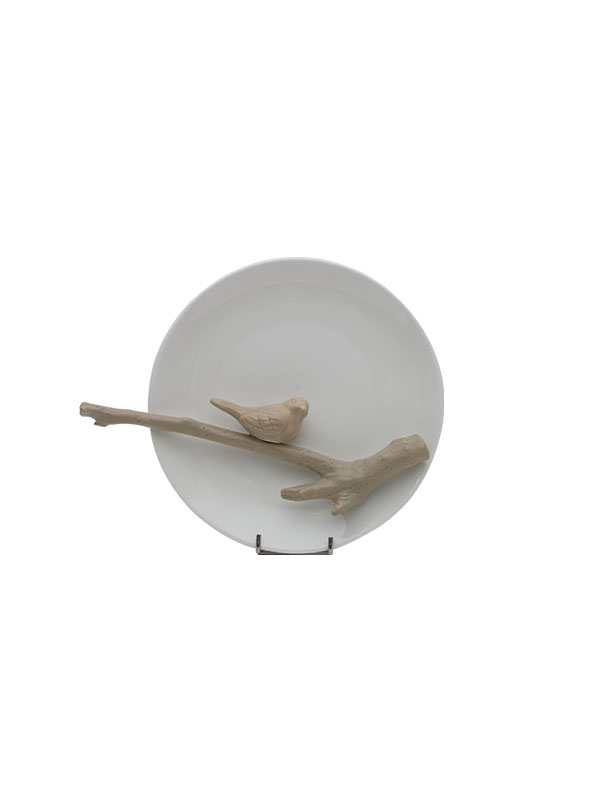 Sparrow Wall Plate (Thick Stem)