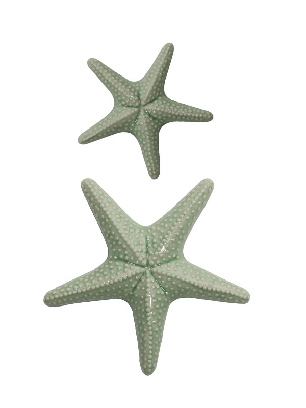 Multicolored Starfish Wall Sculpture (Set of 2)