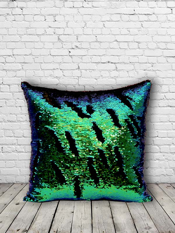 Bling Sequins Cushion (Teal Green) (Set of 2)