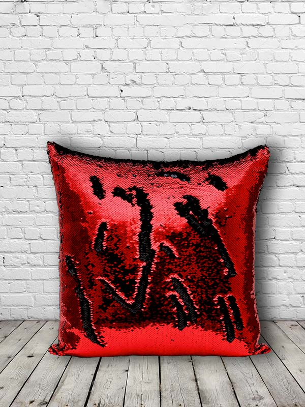 Bling Sequins Cushion (Red) (Set of 2)