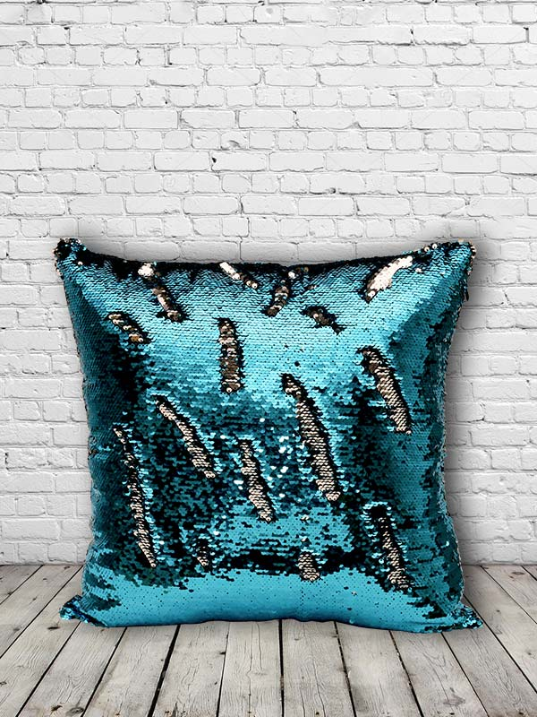 Bling Sequins Cushion (Blue) (Set of 2)