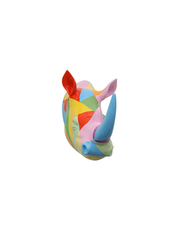 Rhino Head Wall Sculpture