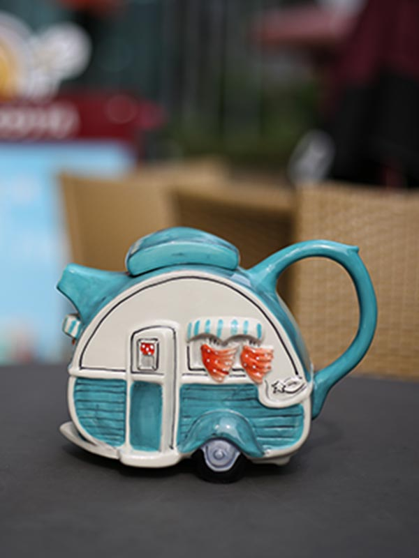 Blue Dining Car Teapot