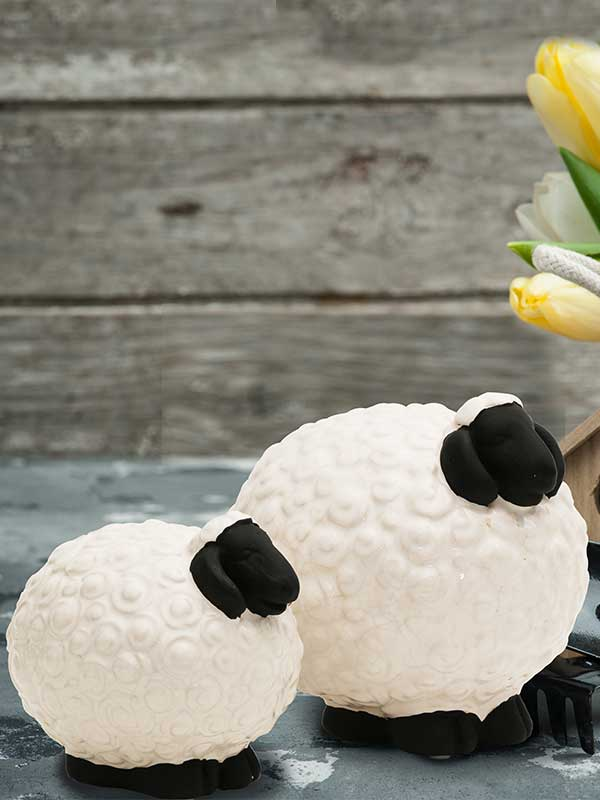Ba Ba White Sheep (Set of 2)