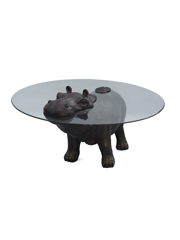 Hippo Glass Table