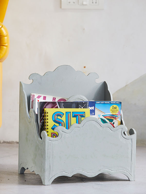 Grey Magazine Rack