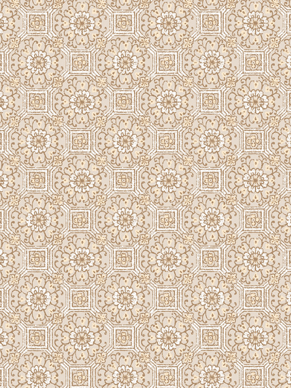 Knotted Flower Damascus Wallpaper