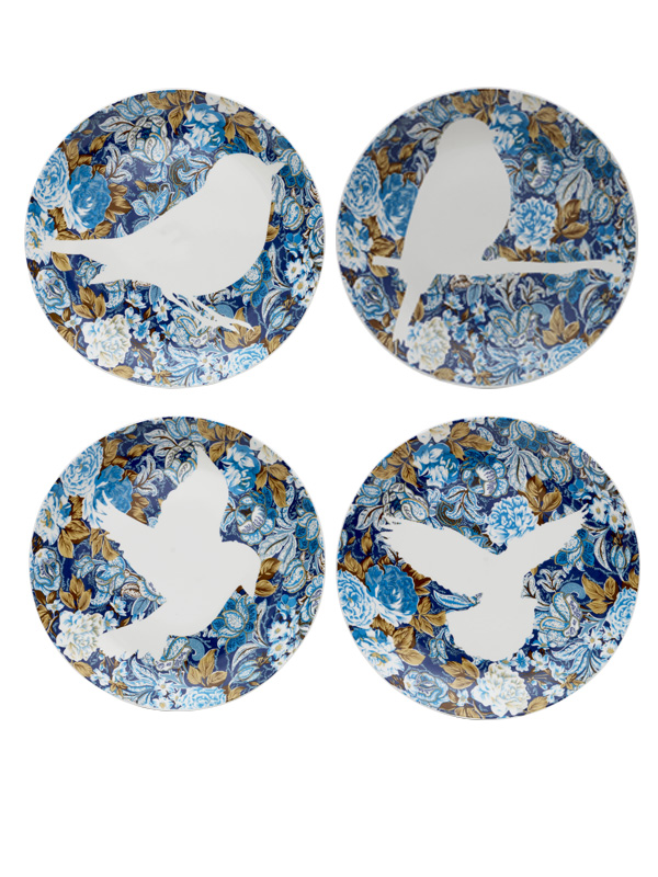 Dove Wall Plate (Set of 4)