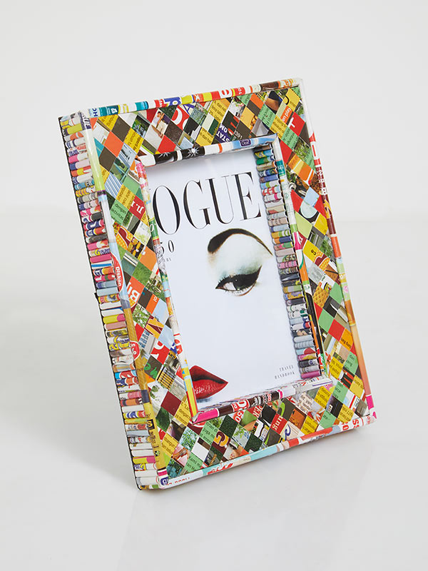 Recycled Pattern Photo Frame