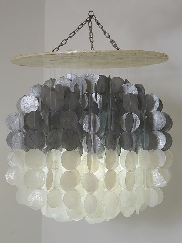 Silver and White Chandelier Small