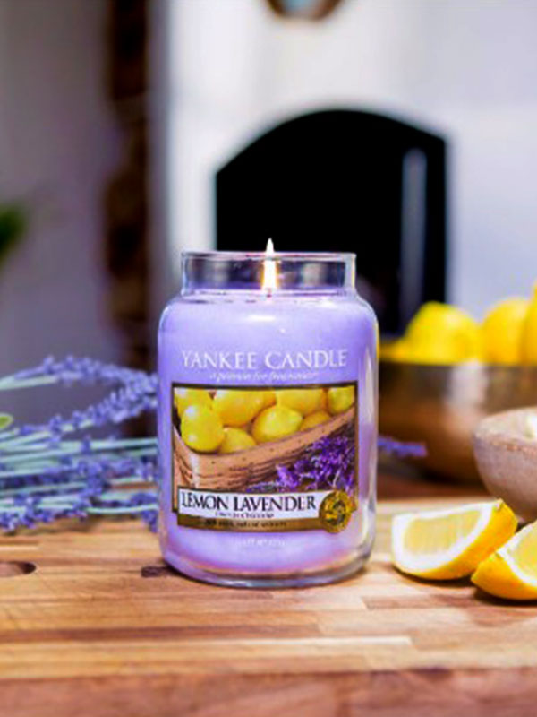 Lemon Lavender Candle Jar