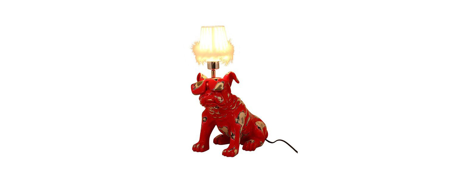 Red Pug Table Lamp