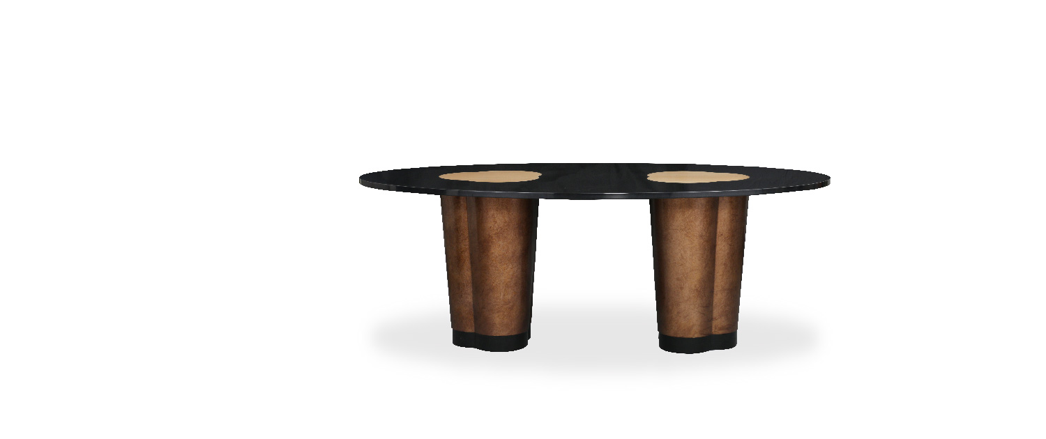 Rocky Star's Oval Dining Table