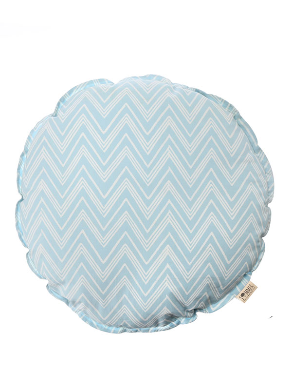 Round Cushion + Chevron
