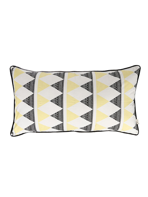 Rectangle Cushion + Aztec Triangle + Sunny Yellow