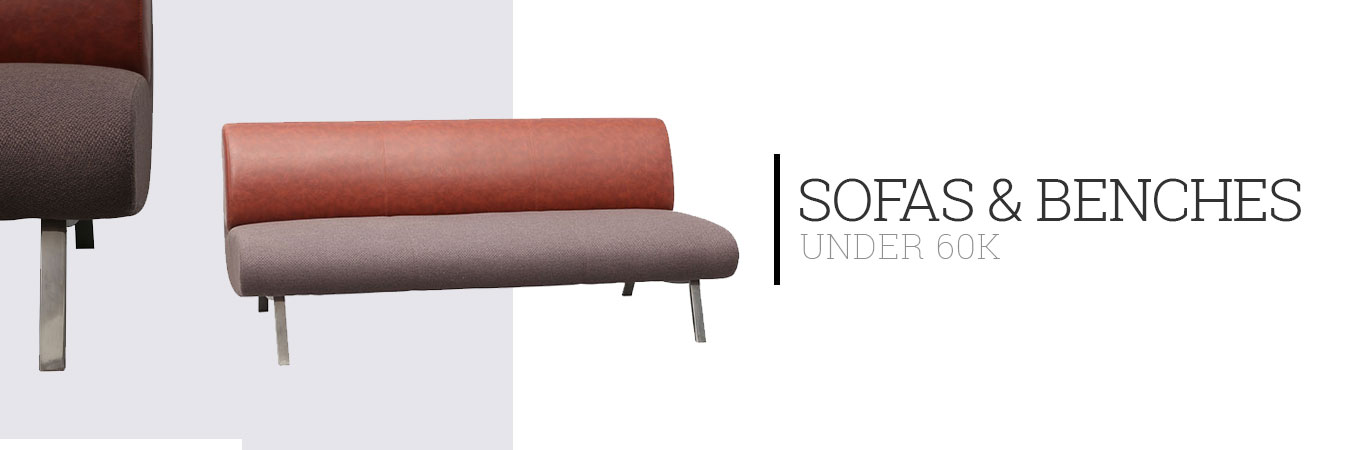 Sofas and Benches Under 60K